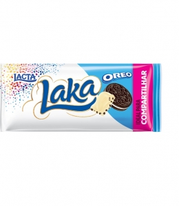 Tablete de Chocolate Laka Oreo 135g Lacta