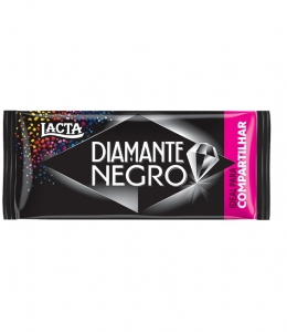 Tablete de Chocolate Diamante Negro 135g Lacta